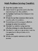Math Problem Solving Checklist