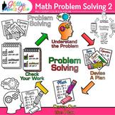 4-Step Math Problem Solving Clip Art: Math Graphics 2 {Glitter Meets Glue}