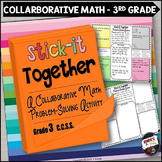 Math Problem-Solving Collaborative Activity for 3rd Grade Common Core
