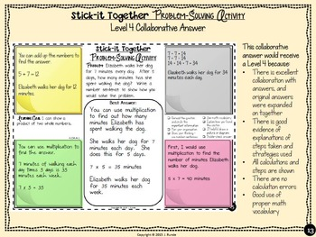 Word Problems Collaborative Worksheets 3rd Grade