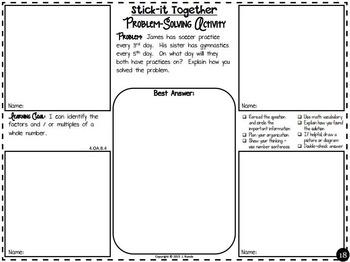 Math Problem-Solving Collaborative Activity for 4th Grade Common Core