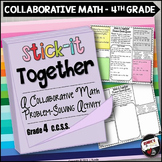Word Problems Collaborative Worksheets 4th Grade