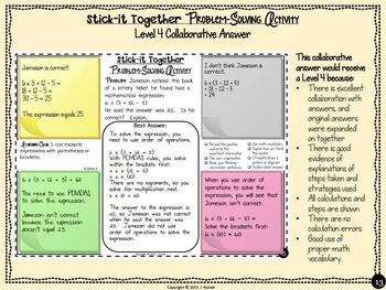 Math Problem-Solving Collaborative Activity for 5th Grade Common Core