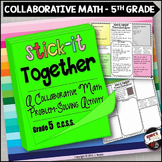 Word Problems Collaborative Worksheets 5th Grade