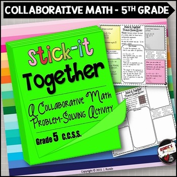 Math Problem-Solving Collaborative Activity for 5th Grade