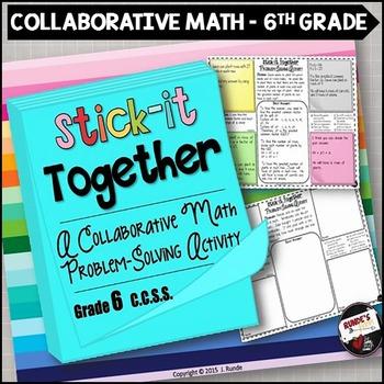 Math Problem-Solving Collaborative Activity for 6th Grade Common Core