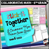 Word Problems Collaborative Worksheets 6th Grade