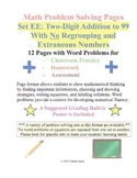 Math Problem Solving Set EE: Two-Digit Add to 99 No Regrouping Extraneous Number