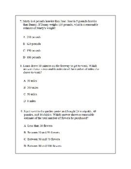Math Problem Solving-Evaluating Reasonableness 1
