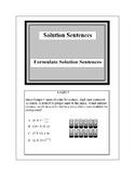 Math Problem Solving-Formulate Solution Sentences 2