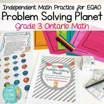 Math Problem Solving Independent Practice: Problem Solving Planet Math Path