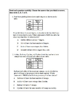 Math Problem Solving-Logical Reasoning 1