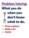 Math Problem Solving Poster