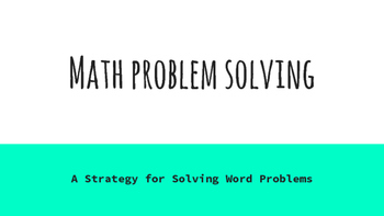 Math Problem Solving Posters