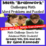 Math Problem-Solving, Challenge Math for Gifted and Advanced Students!