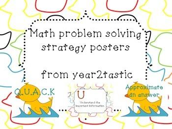 Math Problem Solving QUACK {year2tastic}