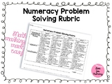 Math Problem Solving Rubric - Numeracy Assessment Tool (Ontario)