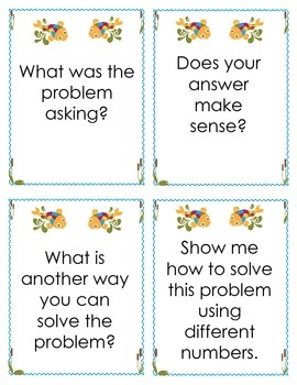 Essential Questions:  Self-Reflection and Peer Discussion Questions for Math