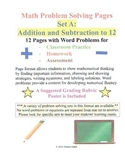 Math Problem Solving Set A: Addition and Subtraction to 12