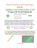 Math Problem Solving Set B: Addition and Subtraction to 18