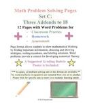 Math Problem Solving Set C: Three Addends to 18