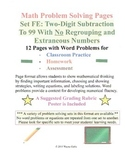 Math Problem Solving Set FE: Two-Digit Subtract to 99 No Regroup/ Extra Numbers