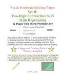 Math Problem Solving Set H: Two-Digit Subtraction to 99 With Regrouping