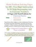 Math Problem Solving Set HE: Two-Digit Subtraction Regroup