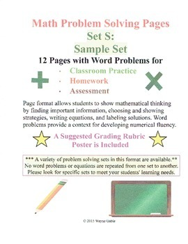 Math Problem Solving Set S: Sample Set