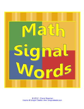 Math Problem Solving Signal Words