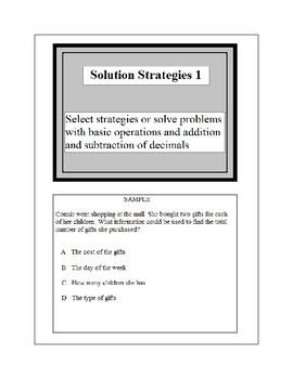 Math Problem Solving-Solution Strategies 1-3
