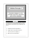 Math Problem Solving-Solution Strategies 1-4