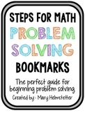 Math Problem Solving Step Bookmarks