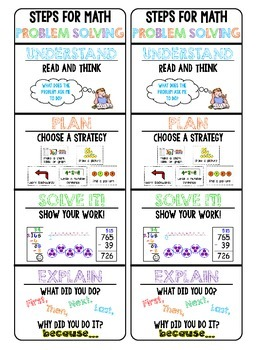 Math Problem Solving Step Bookmarks