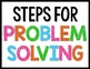 Math Problem Solving Step Posters