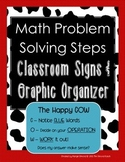 Math Problem Solving Steps *Classroom Signs and Graphic Organizer*