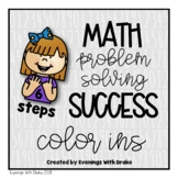 Math Problem Solving Steps (Coloring Pages)