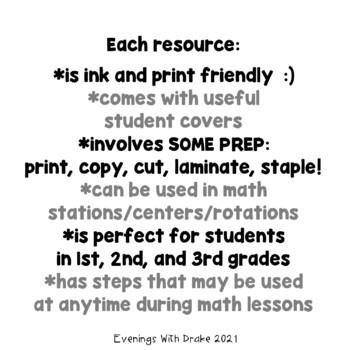 Math Problem Solving Steps Mini Bundle 1