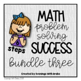 Math Problem Solving Steps Mini Bundle 3