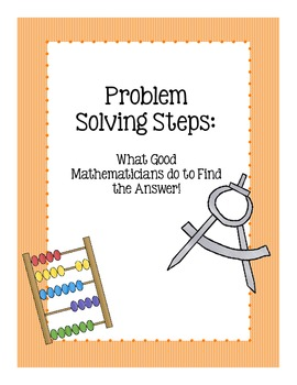 Math Problem Solving Steps Posters!