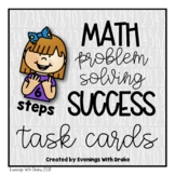 Math Problem Solving Steps Task Card Set