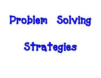 Math Problem Solving Strategies