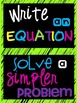 Math Problem Solving Strategies Poster Set (Subway Art)