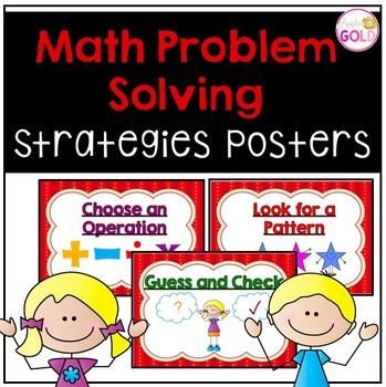 Math Problem Solving Strategies Posters