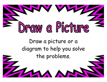 Math Problem Solving Strategies Posters, Set of 9