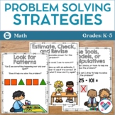 Math Problem Solving Strategies Posters and Bookmarks