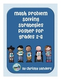 Math Problem Solving Strategies Reference Poster for Grades 2-6