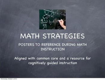 Math Problem Solving Strategy Posters (aligned to common core)