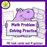 Problem Solving Task Cards and Quizzes Distance Learning