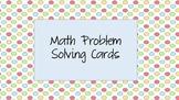 Math Problem Solving Task Cards